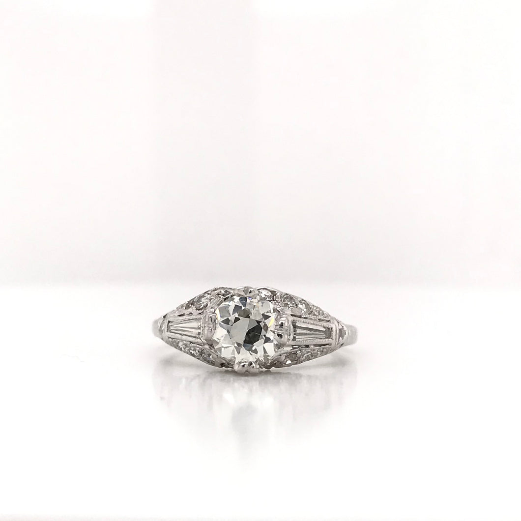 1.01 CARAT MID CENTURY DIAMOND RING