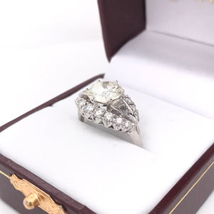 MID CENTURY 2.15 CARAT DIAMOND RING