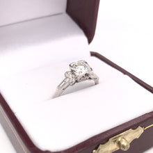 ART DECO 0.75 CARAT DIAMOND PLATINUM RING