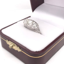 EDWARDIAN 1.55 DTW DIAMOND AND PLATINUM FILIGREE RING