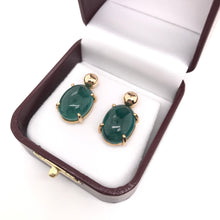 VINTAGE GREEN TOURMALINE DROP EARRINGS