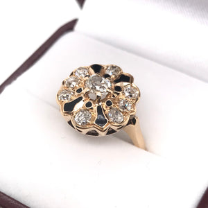 VICTORIAN OLD MINE CUT DIAMOND RING
