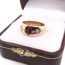 VICTORIAN GARNET AND OPAL GYPSY RING