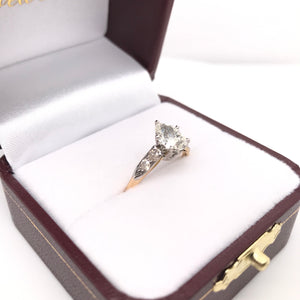 0.95 CARAT PEAR CUT DIAMOND SOLITAIRE STYLE RING
