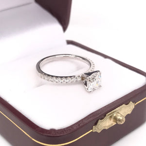 0.97 CARAT DIAMOND IN CONTEMPORARY TIFFANY STYLE SETTING
