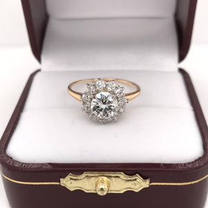 VINTAGE HALO STYLE DIAMOND RING