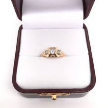 PETITE ART DECO DIAMOND RING