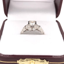 0.35 CARAT ART DECO DIAMOND RING