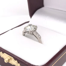 2.23 CARAT SOLITAIRE STYLE PLATINUM AND DIAMOND RING