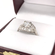 ART DECO 0.85 CARAT DIAMOND PLATINUM RING