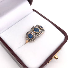 VICTORIAN REVIVAL SAPPHIRE AND DIAMOND RING