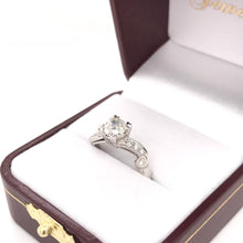 0.74 CARAT MID CENTURY DIAMOND PLATINUM RING