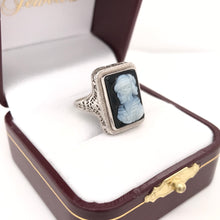 EDWARDIAN BLACK CAMEO RING