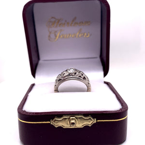 Edwardian Filigree Diamond Band