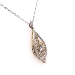 ANTIQUE TWO TONED DIAMOND PENDANT
