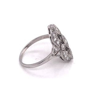 RETRO PLATINUM DIAMOND COCKTAIL RING
