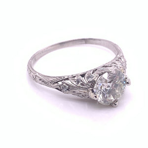 EDWARDIAN 1.5CT DIAMOND SOLITAIRE ENGAGEMENT RING