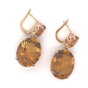 CITRINE DANGLE EARRINGS
