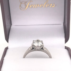 EDWARDIAN 1.04CT ANTIQUE SOLITAIRE ENGAGEMENT RING