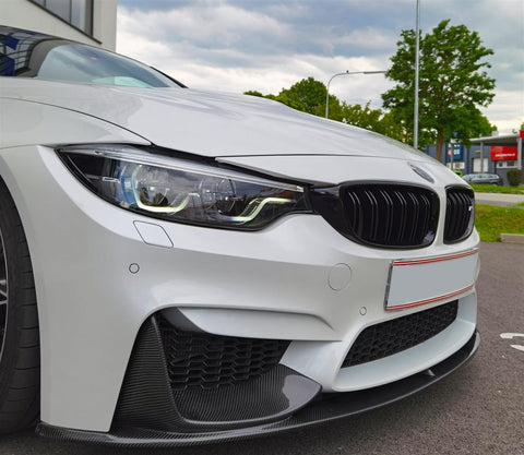 Carbon Frontspoiler Frontlippe Splitter inkl Flaps für BMW M3 F80 + M4 F82 F83 - STW-Solutions