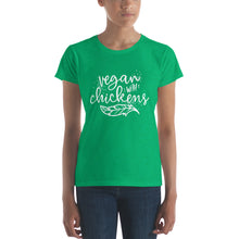 Vegan with Chickens women's fit  t-shirt | by HIPPHOP