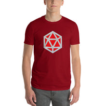 D20 D&D red stylized die emblem t-shirt | by HIPPHOP