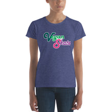 Vegan Skate fitted women's t-shirt | Vegan 4 Life by Hipphop