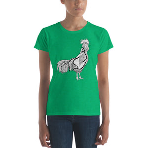 White Rooster women's t-shirt | Vegan 4 Life by HIPPHOP