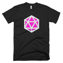 d20 D&D pink stylized emblem gaming t-shirt | by HIPPHOP