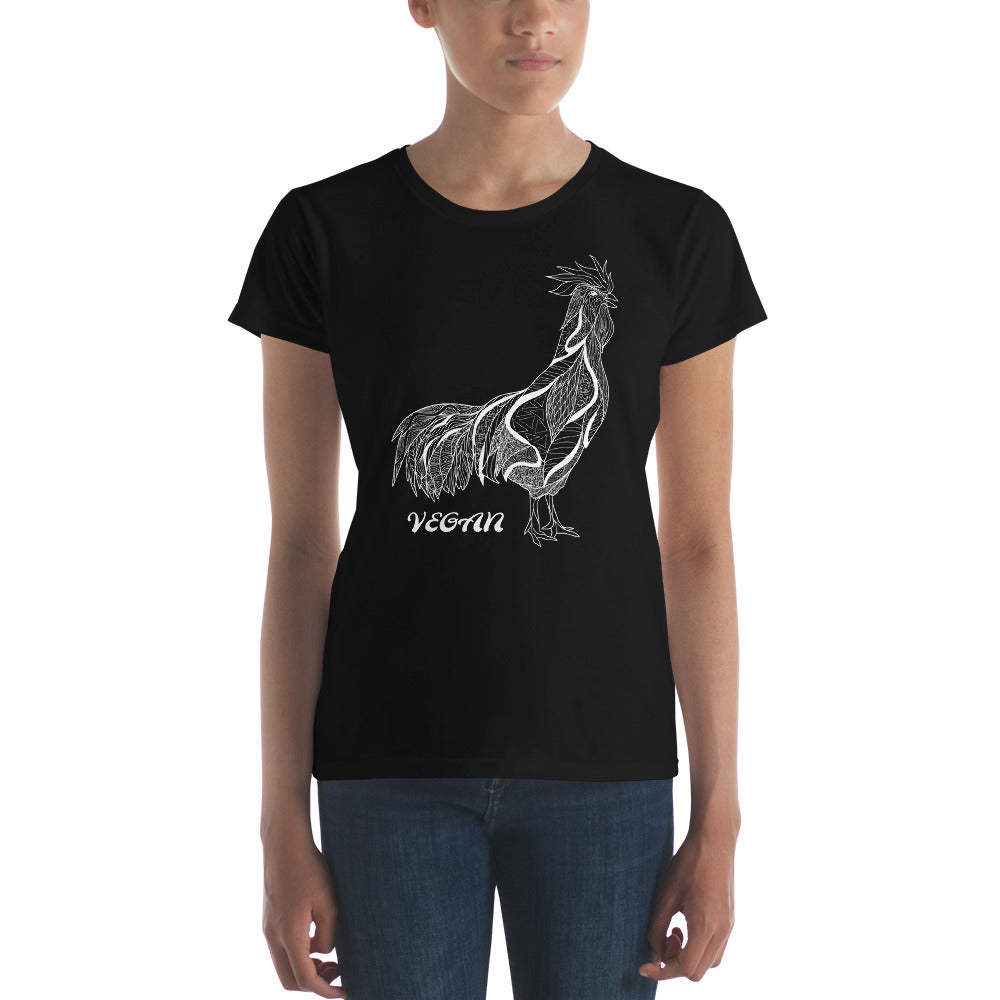 Vegan Rooster Stylized t-Shirt