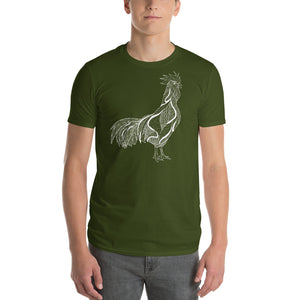 Stylized Rooster vegan t-shirt | Vegan 4 Life by HIPPHOP