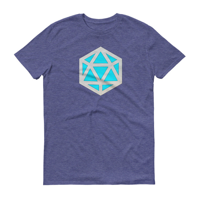 D20 D&D teal stylized die emblem t-shirt | by HIPPHOP
