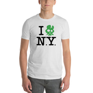 """I Ouch! N.Y."" (King of New York inspired) skull t-shirt 