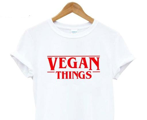 "VEGAN THINGS ""Stranger"" logo t-shirt 