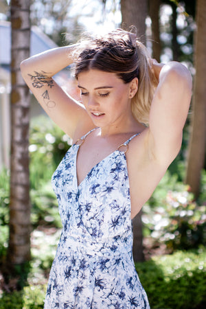 Gemma Playsuit - (White)