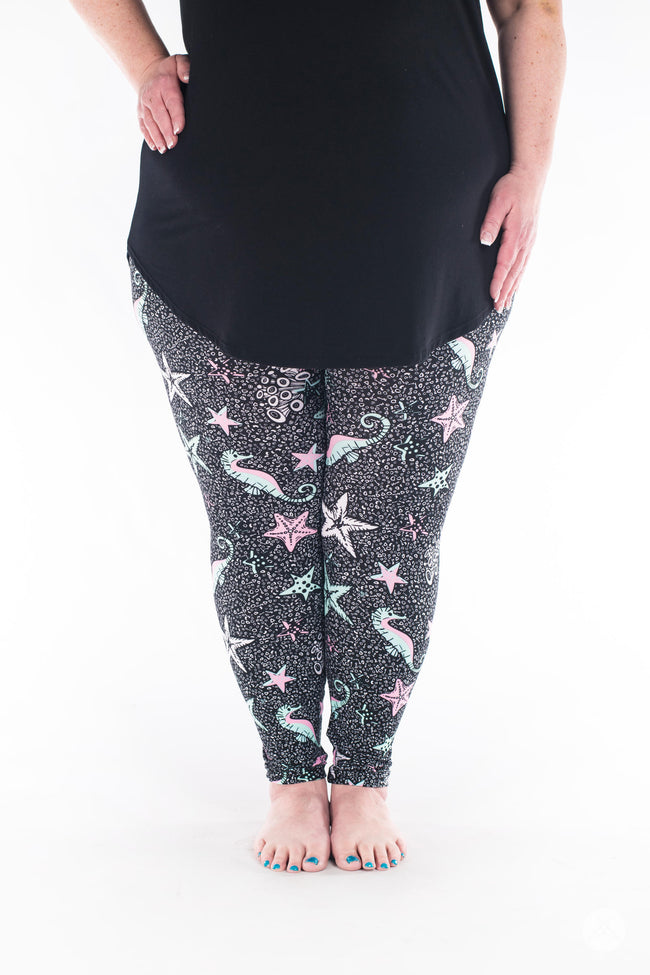 Under The Sea Plus leggings - SweetLegs