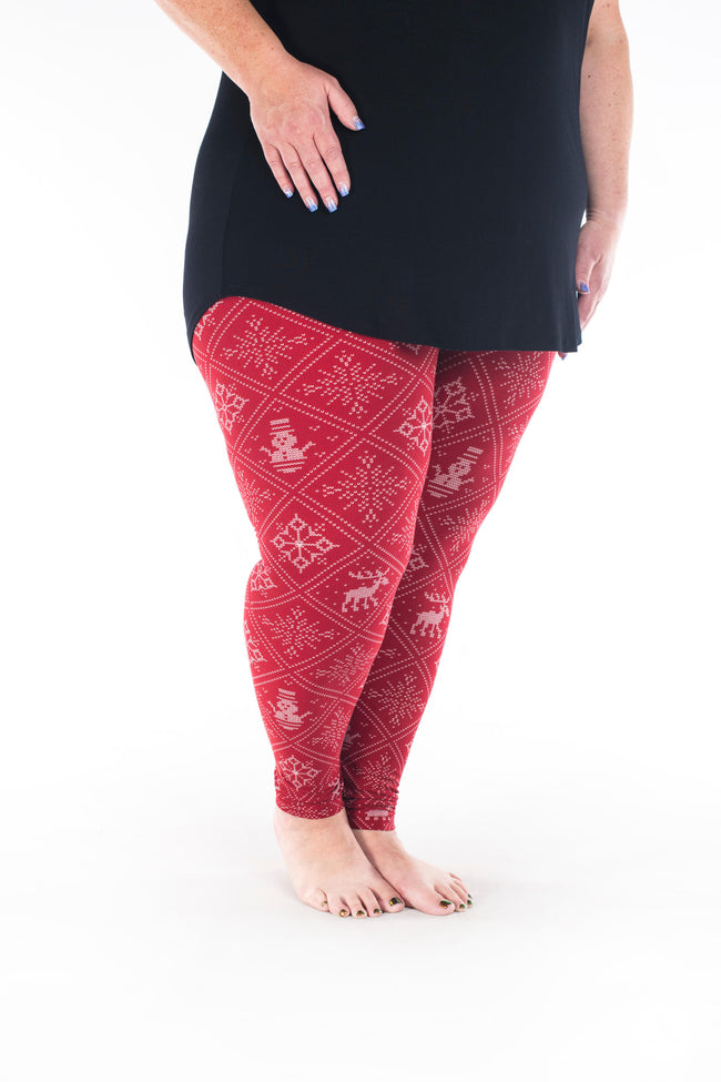 Wrapped Up Plus leggings - SweetLegs