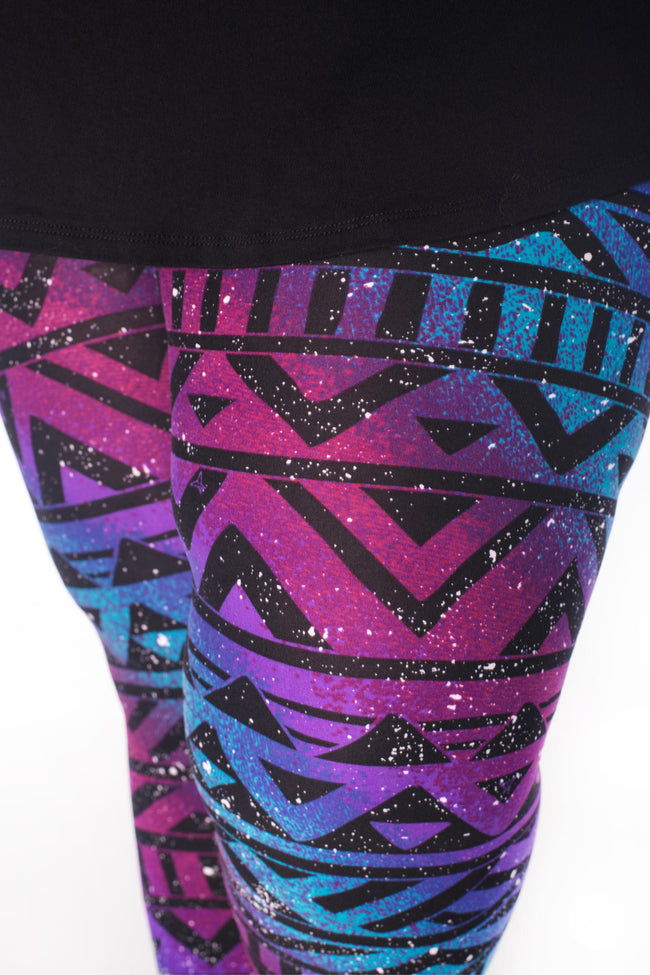 Rainbow Galaxy Plus leggings - SweetLegs