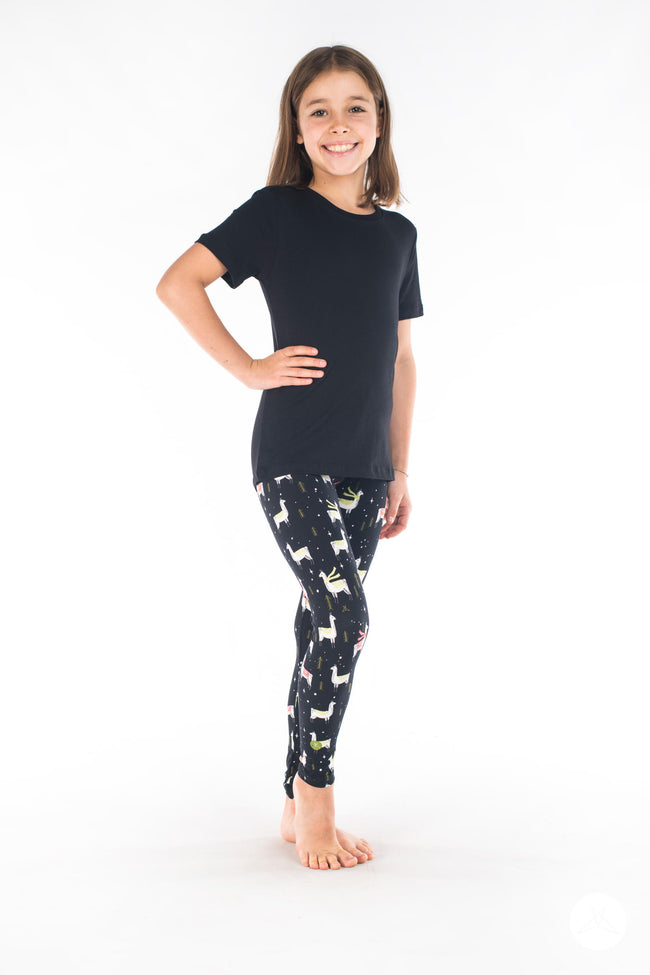 Feliz Llamadad Kids leggings - SweetLegs