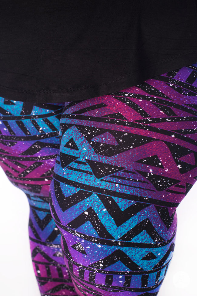 Rainbow Galaxy Plus2 leggings - SweetLegs