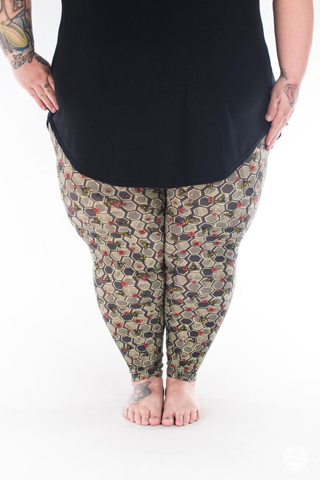 Bee Yourself Plus2 leggings - SweetLegs