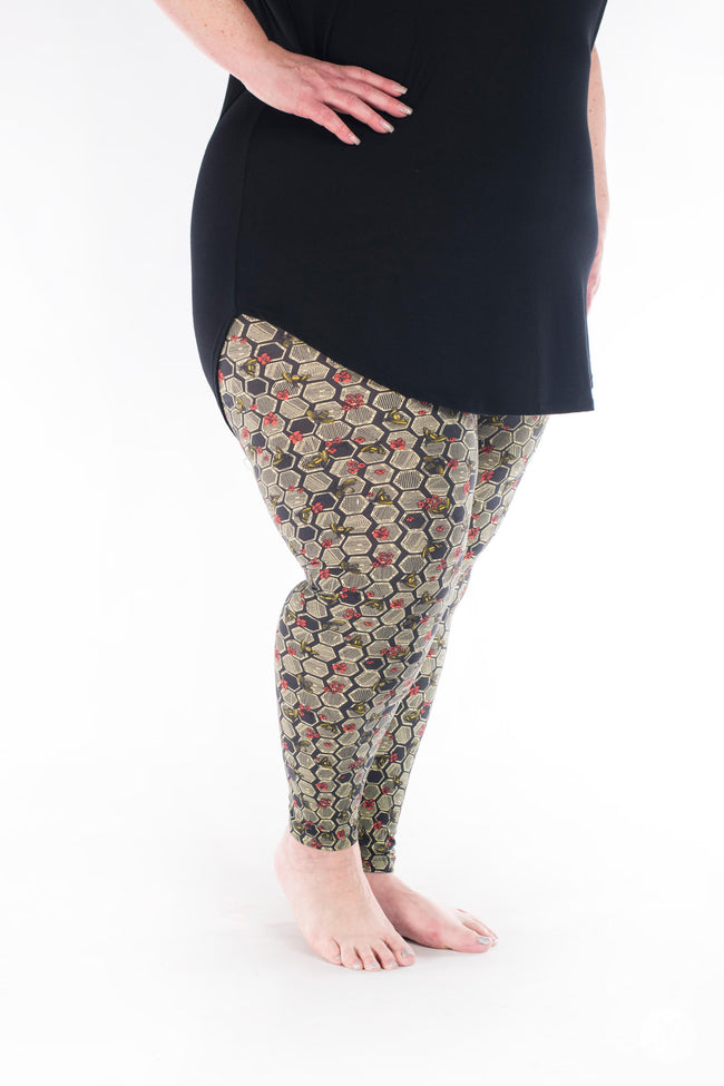 Bee Yourself Plus leggings - SweetLegs