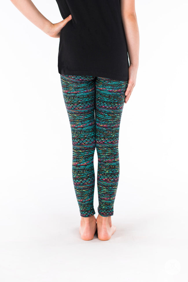 Keepin' It Teal Kids leggings - SweetLegs