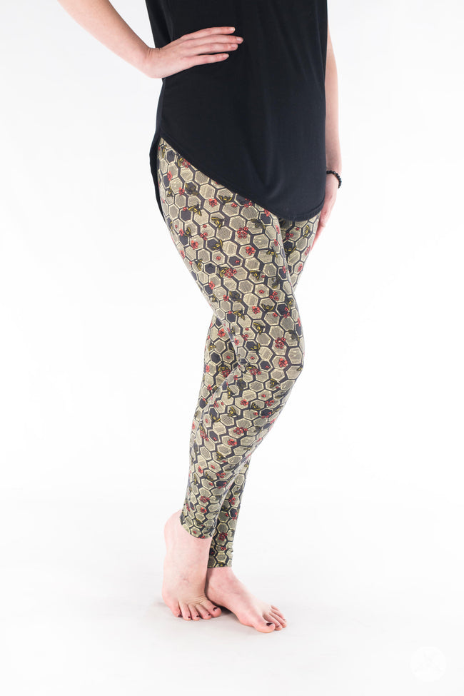 Bee Yourself Petite leggings - SweetLegs