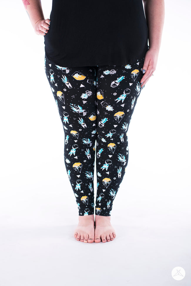 Aloe You Plus leggings - SweetLegs