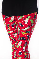Santa's Helpers Petite leggings - SweetLegs