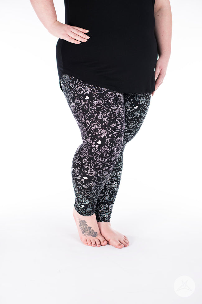 Girl Power Plus leggings - SweetLegs