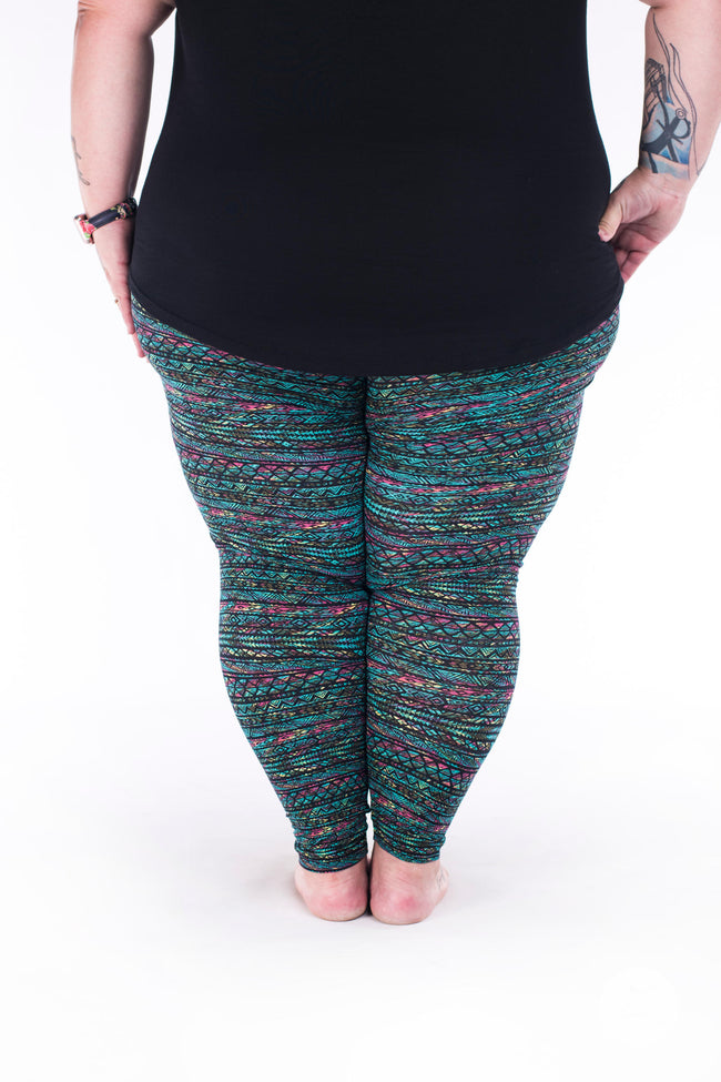 Keepin' It Teal Plus2 leggings - SweetLegs