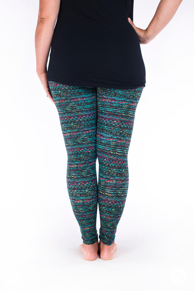 Keepin' It Teal leggings - SweetLegs
