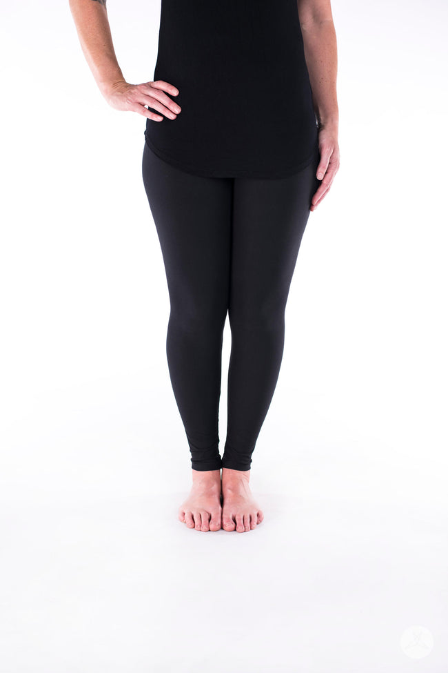 Black Licorice Petite leggings - SweetLegs